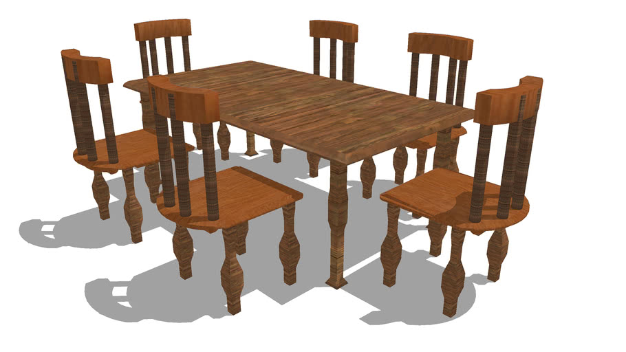 Antique Dining Table 3d Warehouse