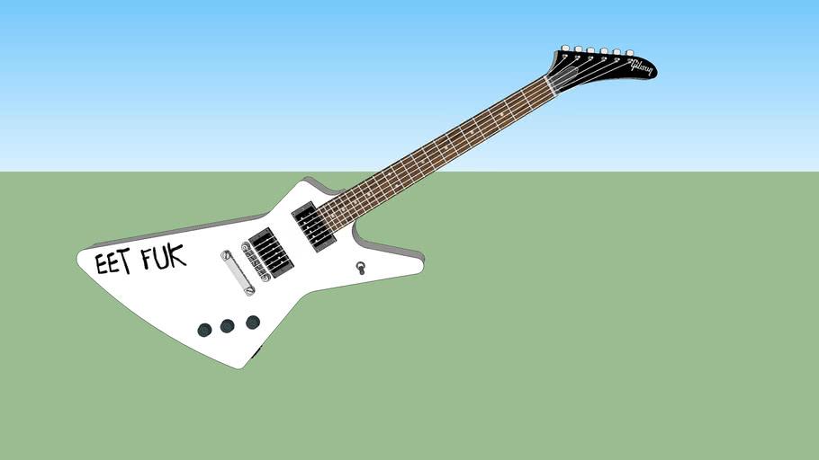 """1985 Gibson Explorer James Hetfield """"Eet Fuk"""" Inspired Guitar"""
