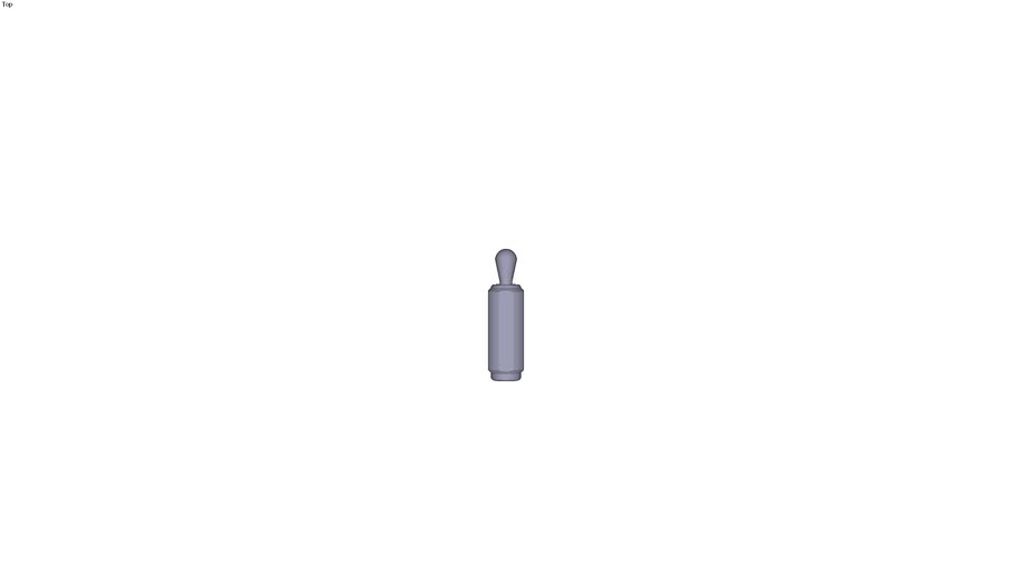 Lateral elastomer plunger threaded body without seal steel head Ø18 x 45 mm - 200 N