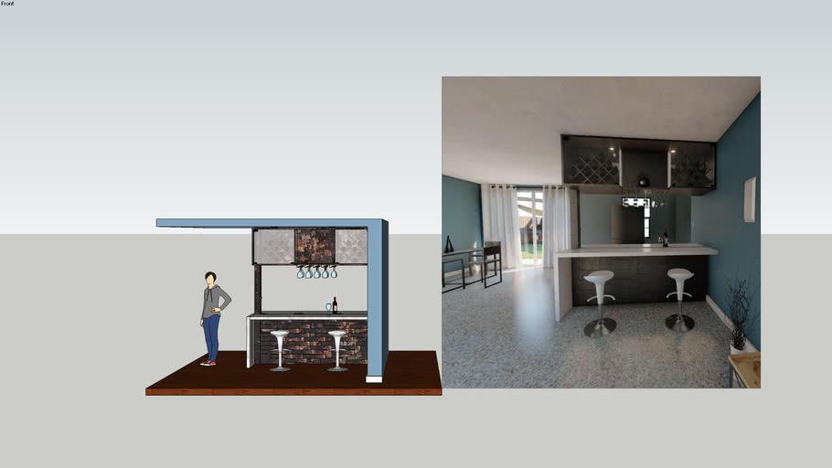 Modern Home Minibar 3d Warehouse