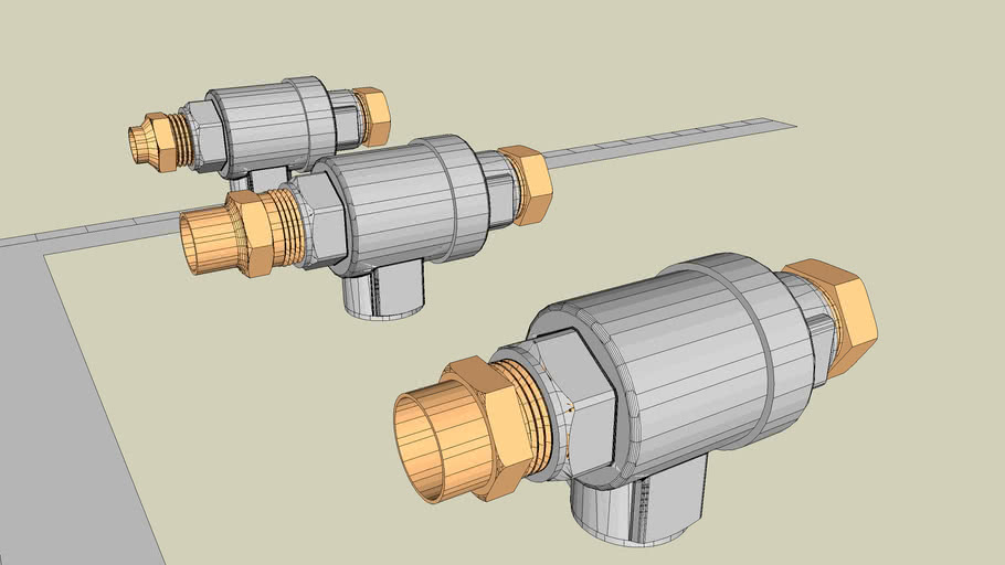 """3/4"""" QEV with 3/4 to 1/4 Bushing and 3 tube adapters"""
