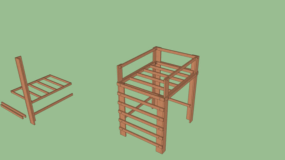 Lofted Bed Frame First Draft