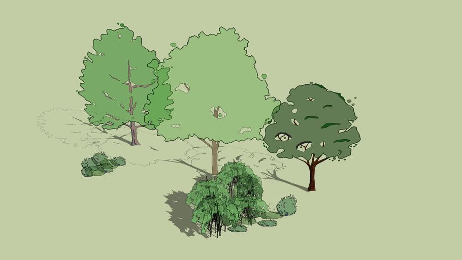 Cartoon Trees With Realistic Shadows 3d Warehouse Tree cartoon stock vectors, clipart and illustrations. cartoon trees with realistic shadows