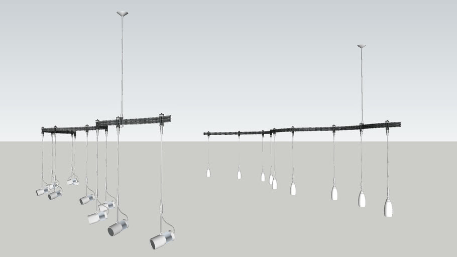 Bruck Flex Line Monorail Lighting
