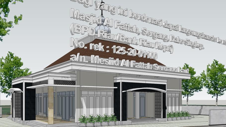 Masjid 16x16 m2. surau, mosque