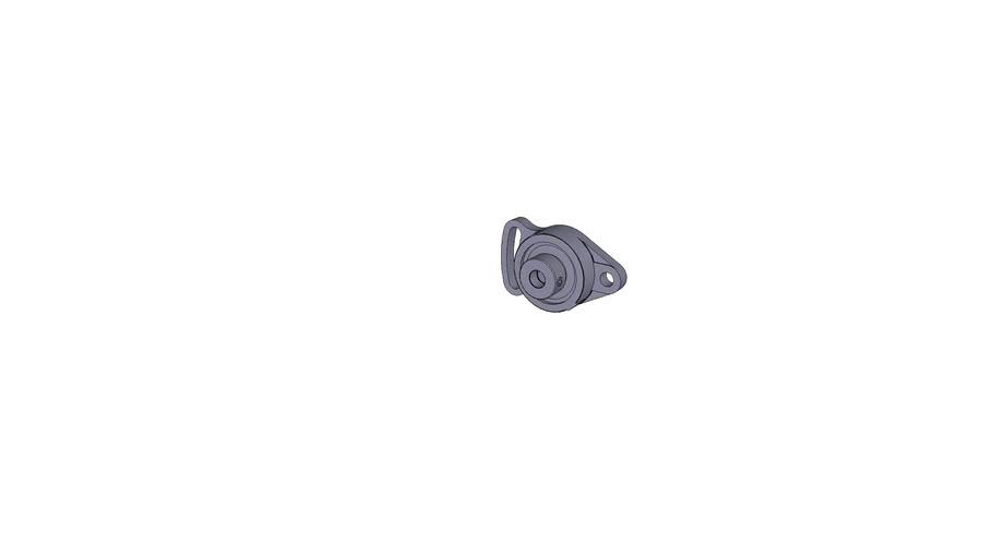 Oval-flanged bearing ESFA 201