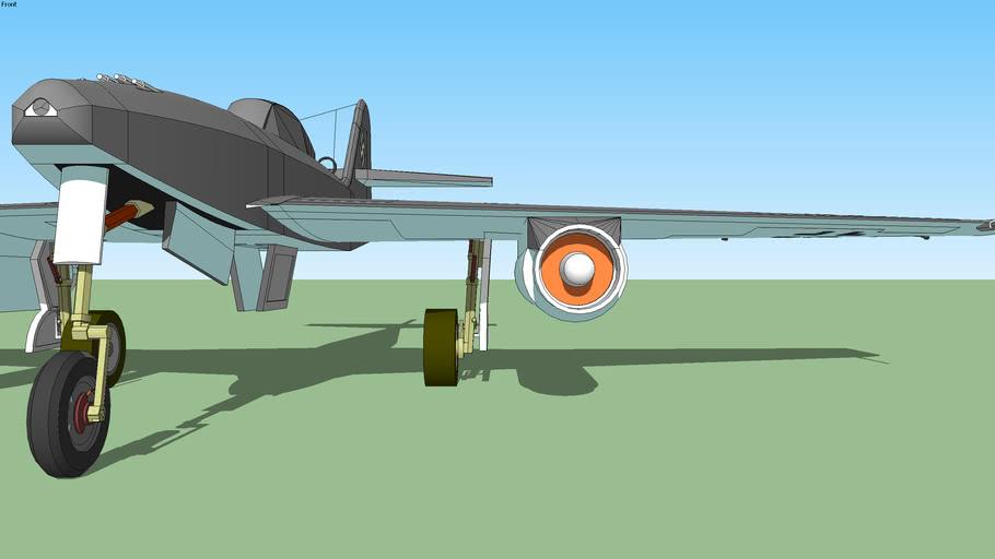 Stylized Me262a1a. WWII warbird.