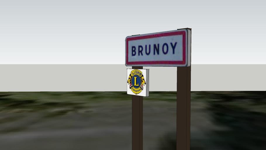 Panneau entrée de Ville de Brunoy