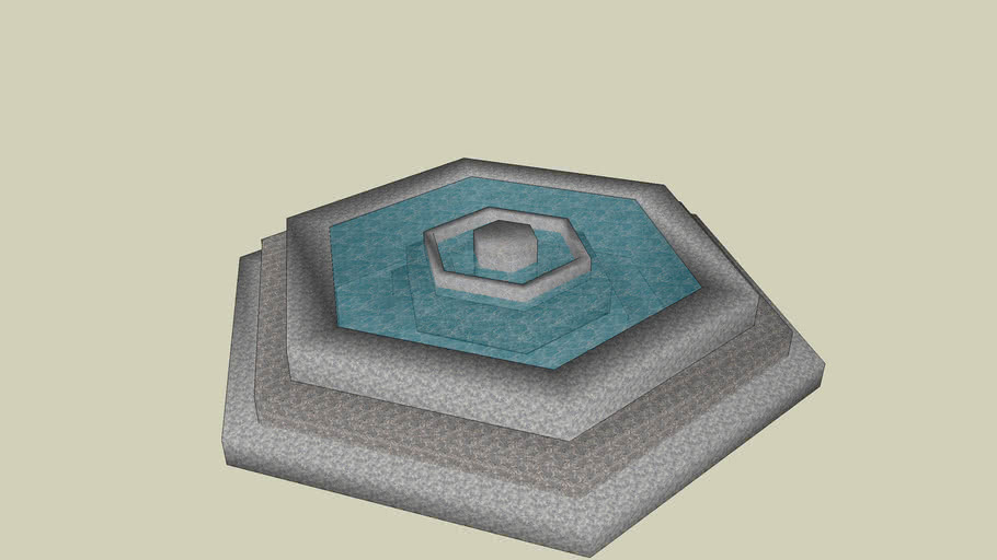 Marble pool or fountain