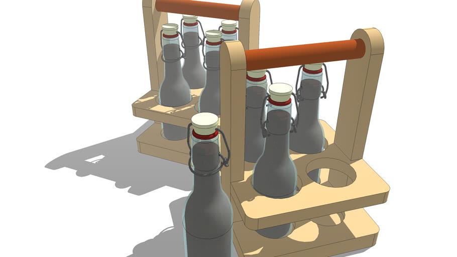 CASEFORWARD  Reusable 4 Glass Bottle Carrier