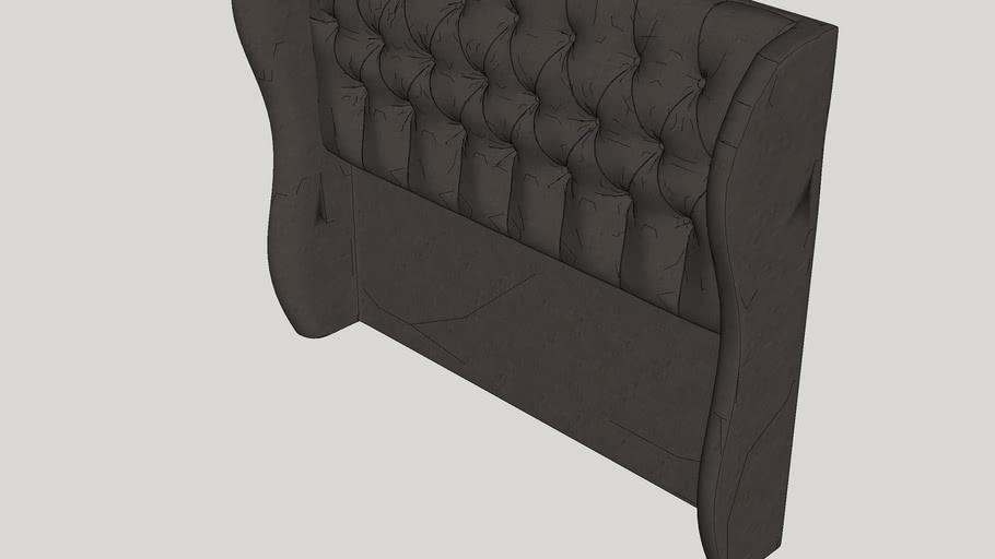 Stowmarket Tufted Diamond Upholstered Wingback Headboard