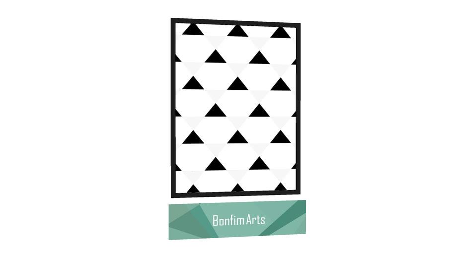 QUADRO BONFIM ARTS - Quadro Tri Black por Bonfim Arts