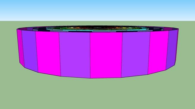 Стены всех радиусов высотой 2300