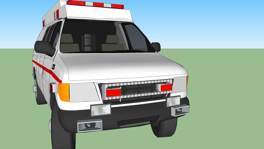 ambulance type ll ford f350 econoliner model 1998  turbo diesel