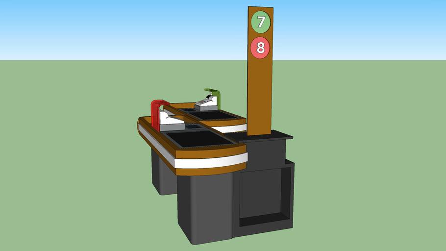 Caja registradora doble
