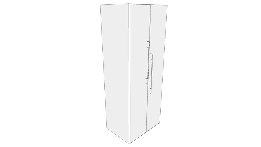 800 Wardrobe Module with Two Shutter and Four Shelves 800X585X2100 CPU_CPUU000327