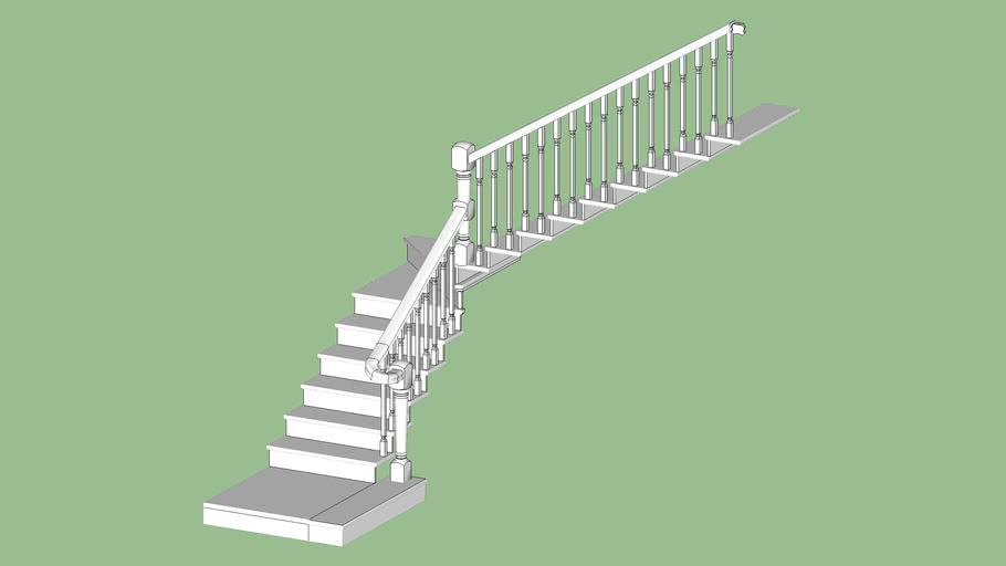 Escalera Natura con barandilla