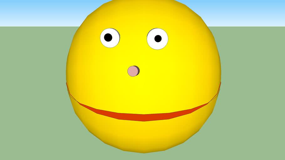 smiley sketchup sphere