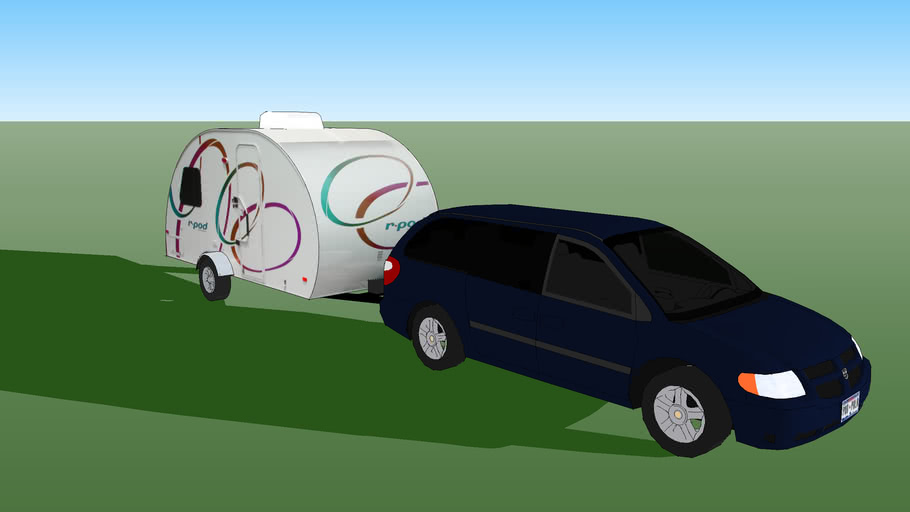 Blue Caravan with R-pod