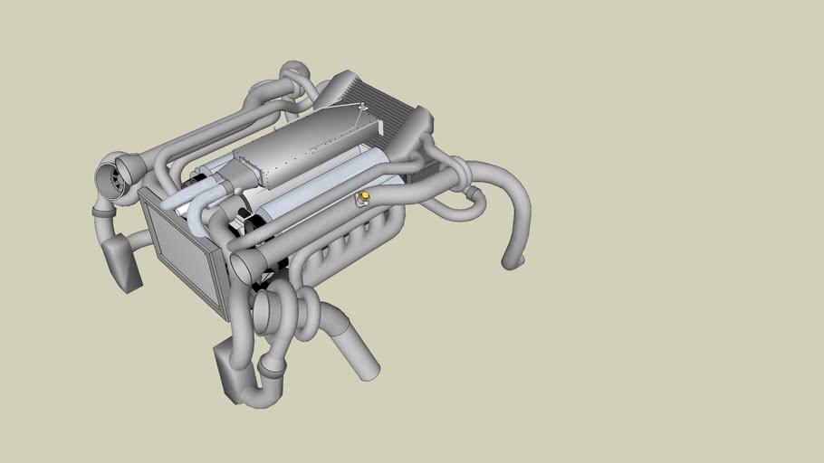 Nelson racing twin turbo motor