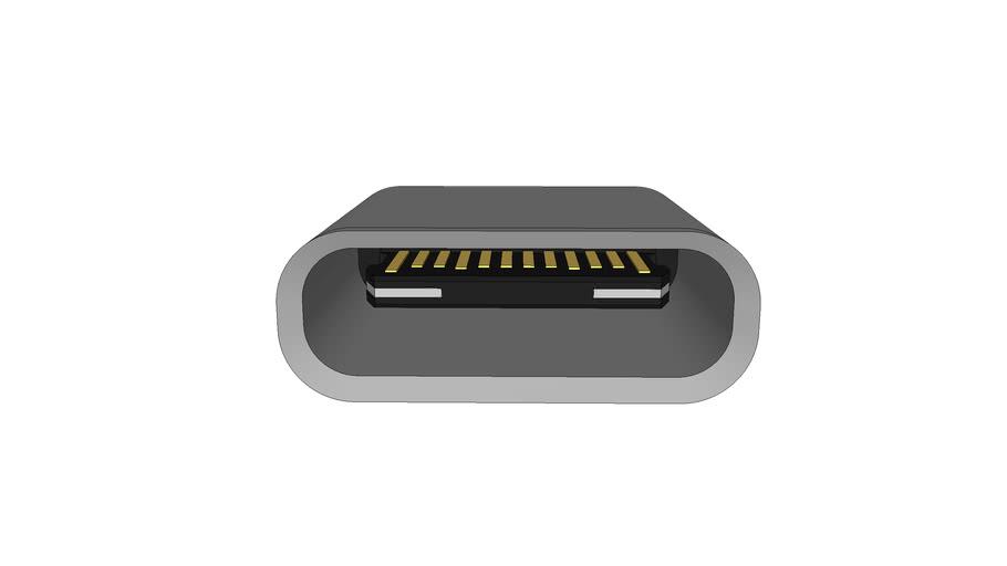 USB Type-C / Thunderbolt 3 Receptacle (Flattened Sides ...