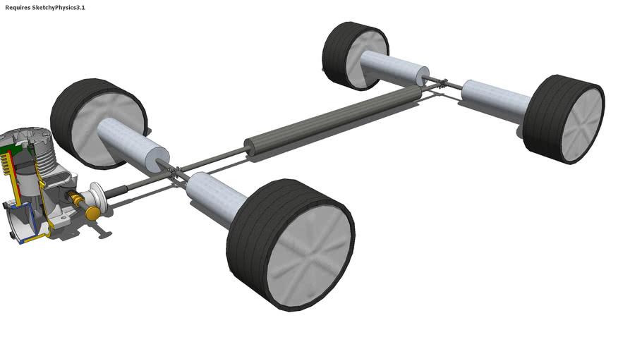 Sketchyphysics 4WD Mechanism