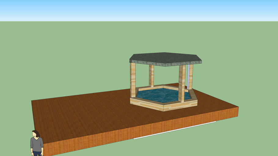 hot tub on decking