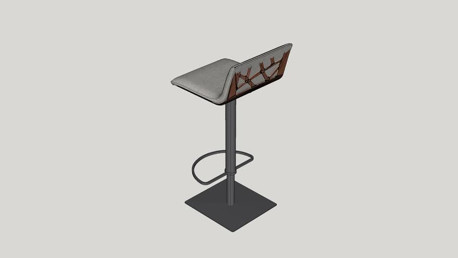 Esmerald Adjustable Height Swivel Bar Stool with Cushion