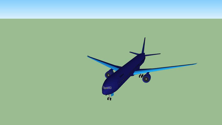 AirAtlanticOcean Boeing 777-300ER with interior (4MB)