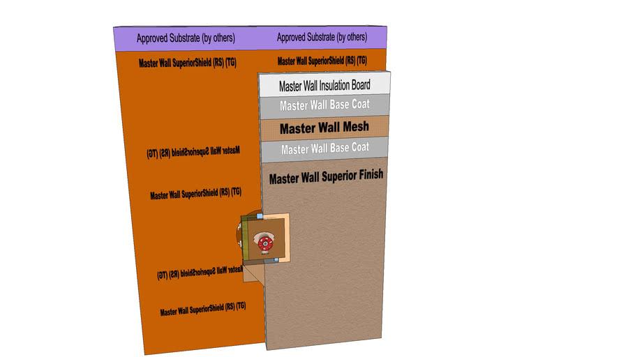 Rollershield Drainage CIFS™ Plumbing Spigot Detail