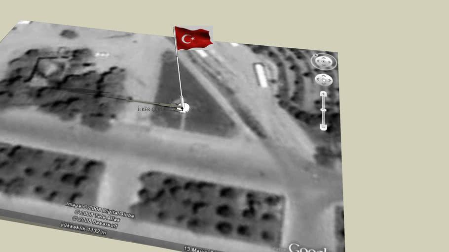 Selçuk Üniversitesi Alaeddin Keykubad Yerleşkesindeki Türk Bayrağı!...