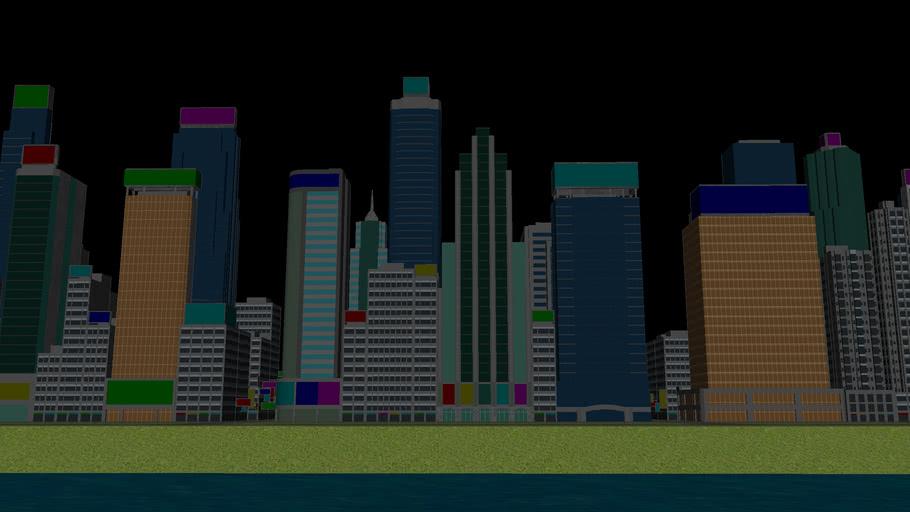 Alpha Cube World -- Hong Kong Styled Cityscape Part 1A