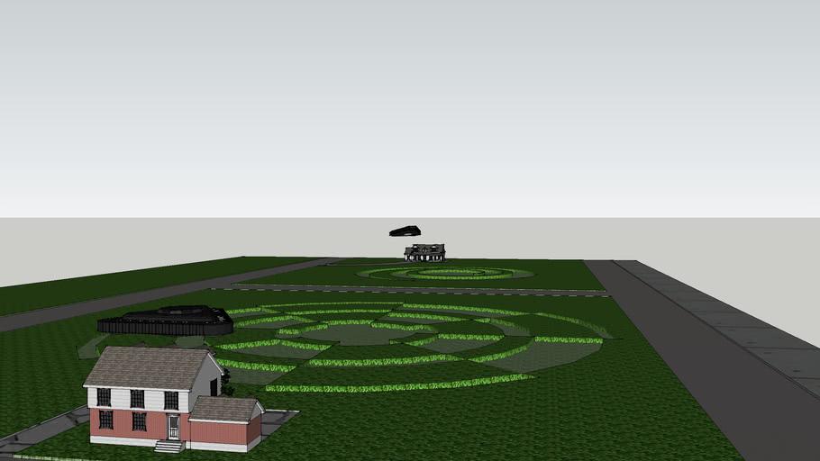 TR 3B UFO crop circles new England US. (2011)