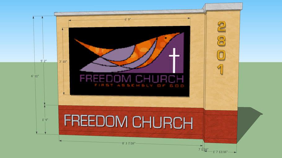 Freedom Church Sign