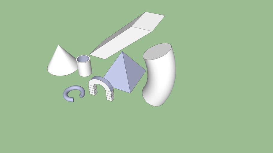 Diverses formes sketchup