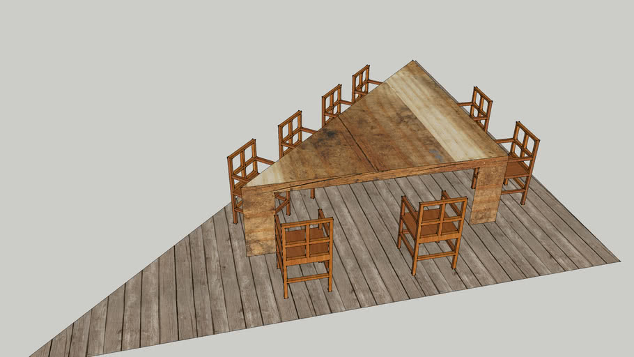 Outside sitting area for project.