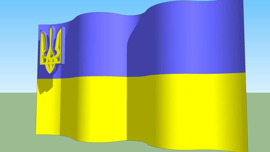 Ukrainian gerb & flag