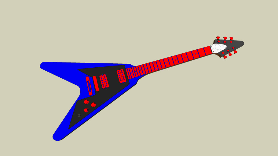 New England Patriots Gibson Flying-V