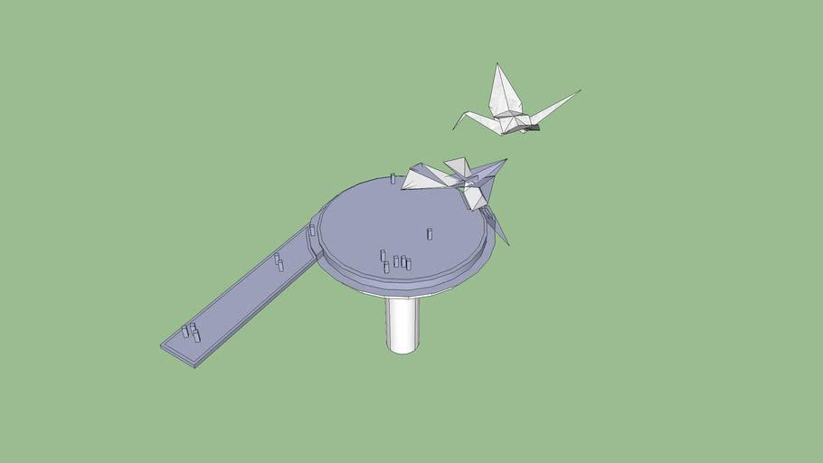 origami landing pad