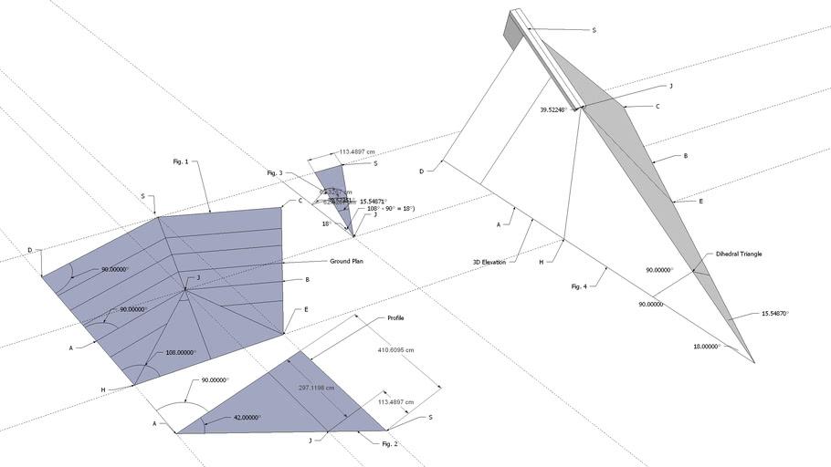 Sloping Ridge On Pentagonal Ground Plan