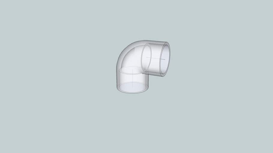 1-1/2 inch PVC 90