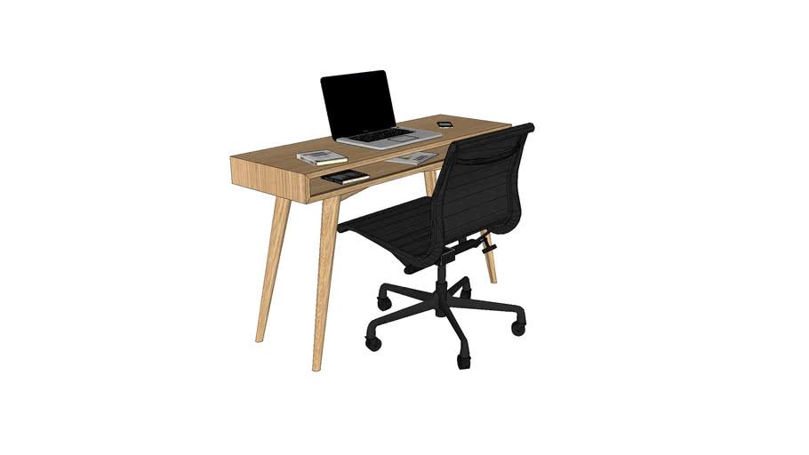 Bureau en chêne sur-mesure 120x40xh74 cm / Desk