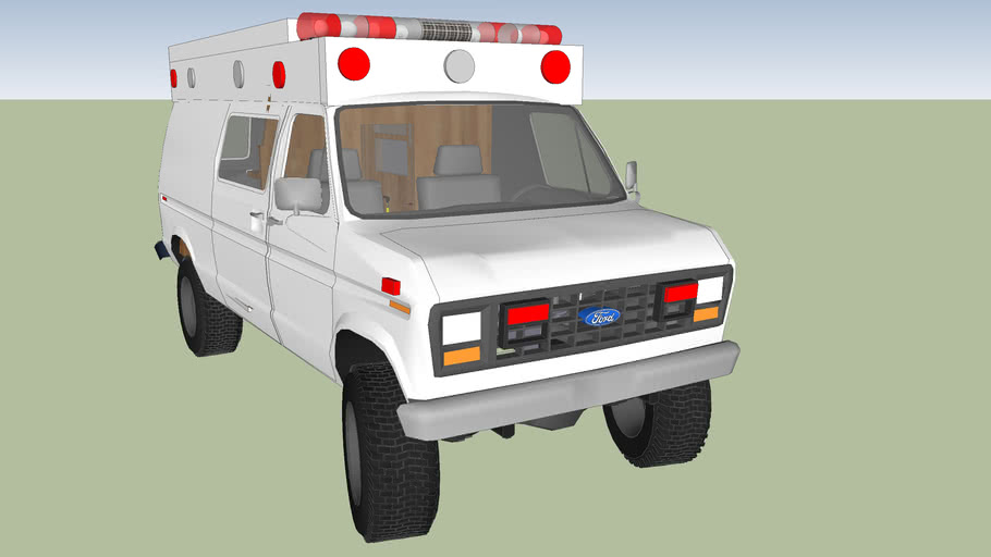 type 2 ambulance ford econoline f 350 model 1988