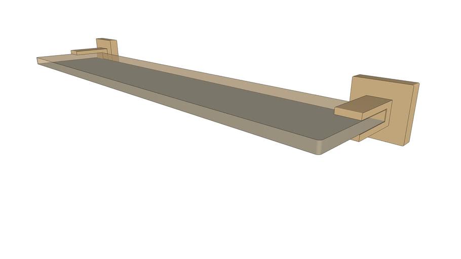 DOCOL - Prateleira acrílica Square ouro escovado 388272
