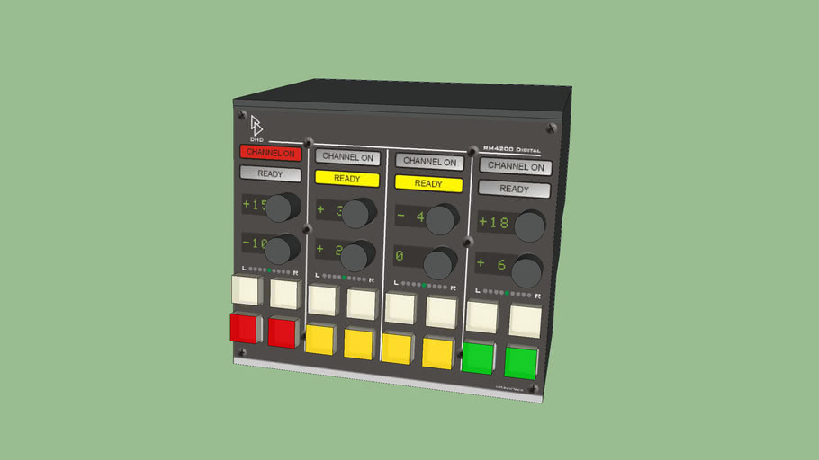 DHD RM 4200 - RM420-023 - Fader Overbridge Panel