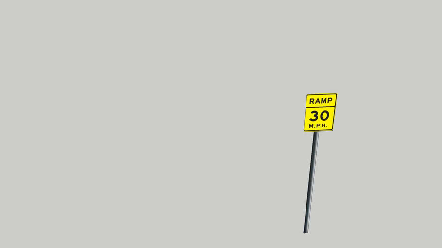 New Improved Ramp Advisory Sign