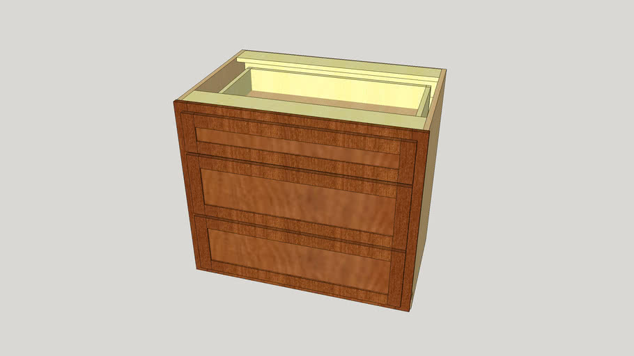 "Generic 36"" Base Cabinet 3 Drawer"