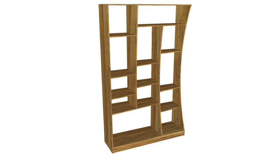 81998 Shelf Rettangolo Oak Left 200x117cm