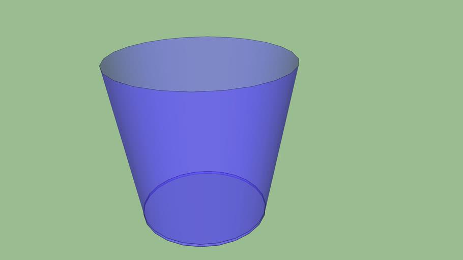 Blue Glass Trashcan