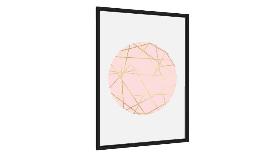 Quadro Rosa e ouro I - Galeria9, por Arte Decor